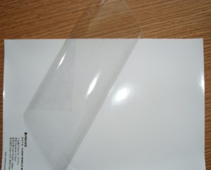 image relating to Clear Printable Vinyl identified as Vinyl Speciality Plastics: Printable (inkjet) Adhesive
